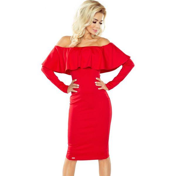 45f92783d9 Sukienka Hiszpanka Z Długim Rękawkiem Czerwona - Sukienki damskie ...
