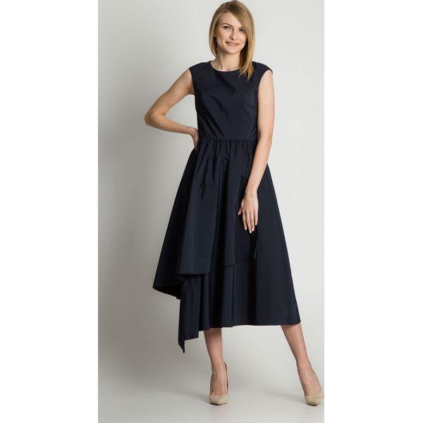 fbf019edbe Trapezowa asymetryczna sukienka odcinana pod biustem BIALCON ...