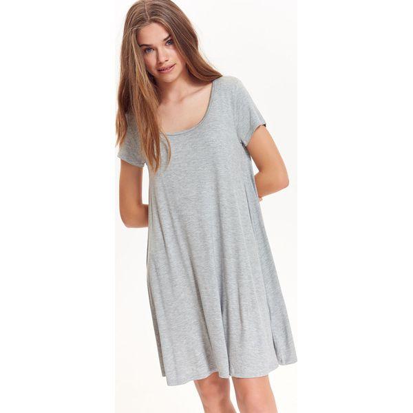 4d16e9cb62 LUŹNA SUKIENKA Z DZIANINY - Szare sukienki damskie marki TROLL