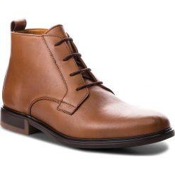 b1abfbc0b3f96 Kozaki TOMMY HILFIGER - Color Block Heel Leather Boot FM0FM01602 Cognac  606. Buty zimowe męskie