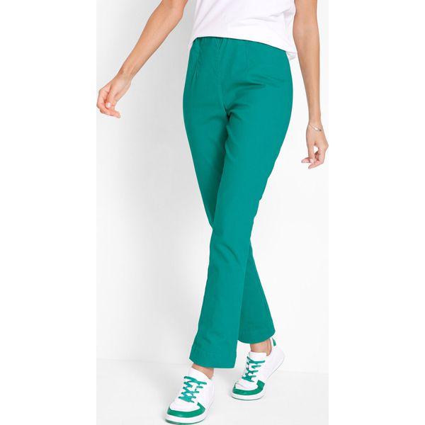 d16574e5e69f8c Spodnie z gumką w talii bonprix brązowy - Spodnie materiałowe ...