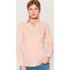 1a710f1690c80d Klasyczna koszula z długimi rękawami - Pomarańczowy. Brązowe koszule  damskie Mohito, bez wzorów,