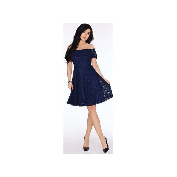 33d2f818104da2 Koronkowa sukienka hiszpanka - Niebieskie sukienki damskie Bird, l, bez  wzorów, z koronki, bez kołnierzyka, bez ramiączek. Za 379.00 zł.