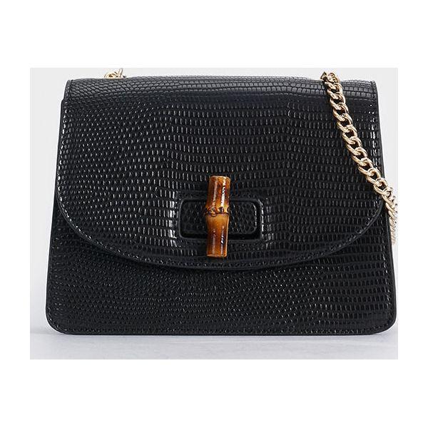 92fcbff36ec74 Parfois - Torebka - Czarne torebki klasyczne damskie marki Parfois ...
