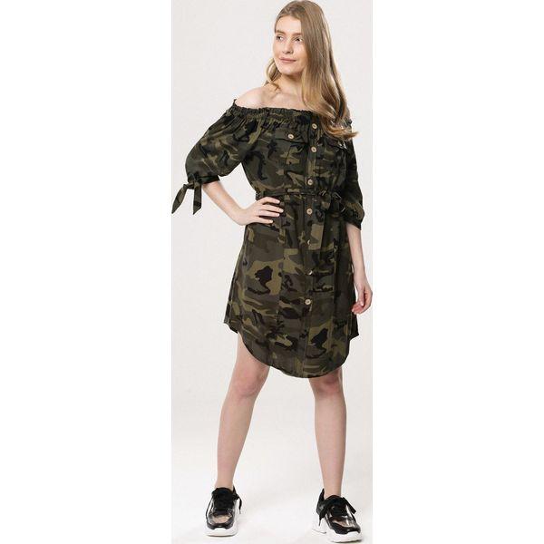 ae093b4277 Ciemnozielona Sukienka Touching - Sukienki damskie marki Born2be. Za ...