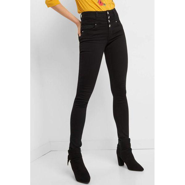 1f992c89 Jeansy skinny z wysokim stanem