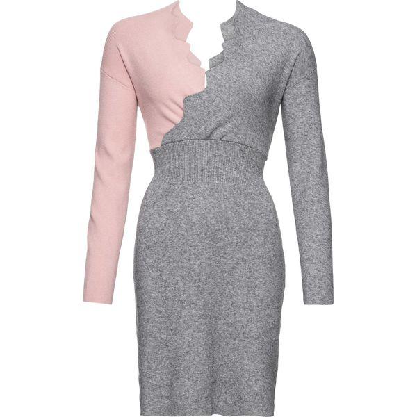 8152ab4e5a Sukienka dzianinowa bonprix dymny jasnoróżowy - szary - Sukienki ...