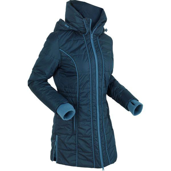 Krótki płaszcz z podszewką barankiem bonprix błękit królewski melanż