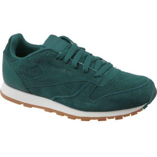 Reebok CL Leather SG CM9079 buty sneakers, buty sportowe uniseks zielone 36