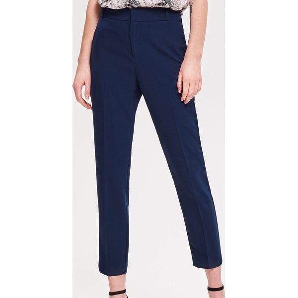9a948f0f034f1e Spodnie z kantem - Granatowy - Niebieskie spodnie materiałowe ...