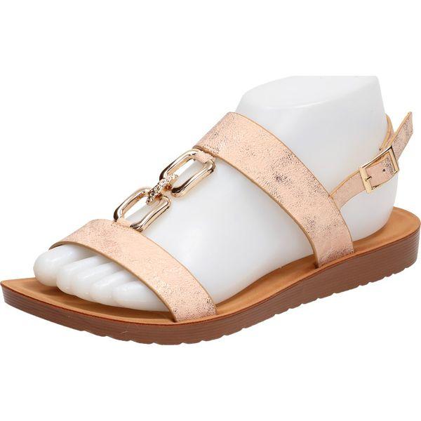 Złote sandały, buty damskie VINCEZA 13313
