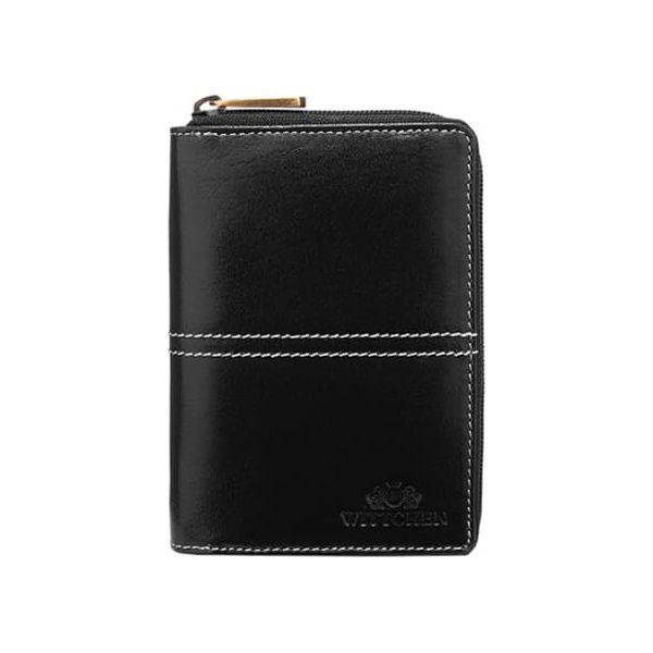 3f2e33b6afacf Skórzany portfel w kolorze czarnym - (S)10