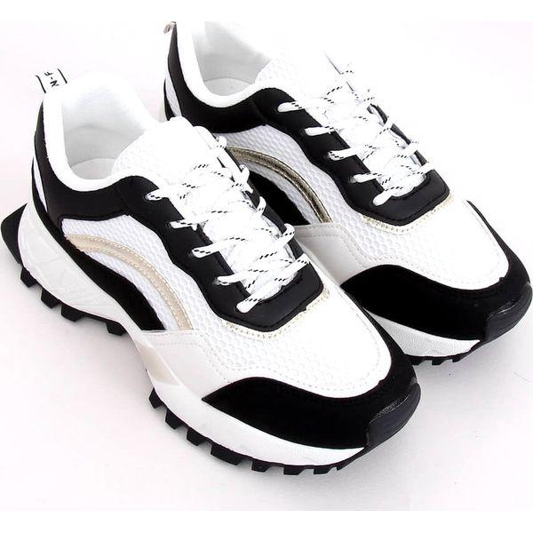 Buty sportowe biało czarne LA87P Black