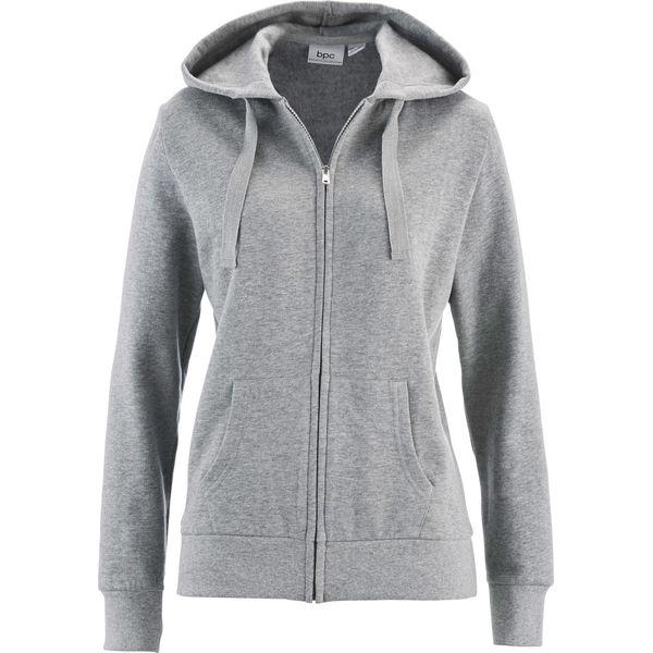 155375e3c Bluza rozpinana bonprix jasnoszary melanż - Bluzy sportowe damskie ...