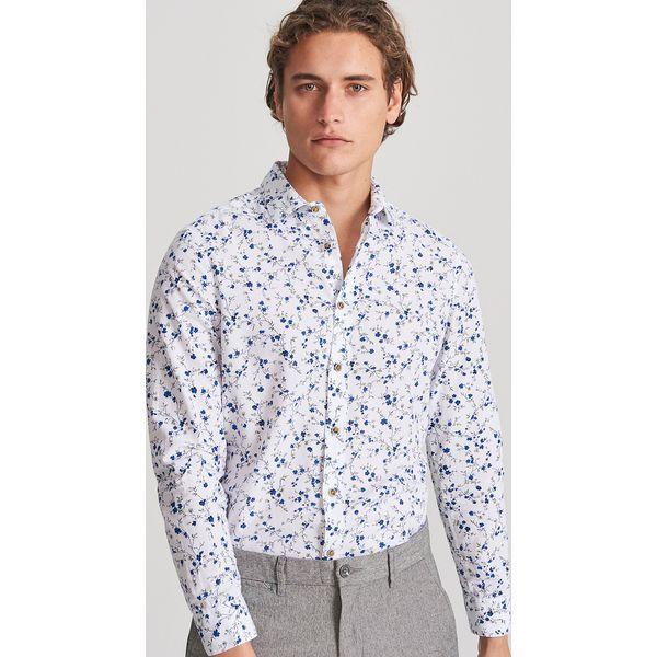 multiple colors 100% high quality speical offer Koszula slim fit w drobne kwiaty - Niebieski