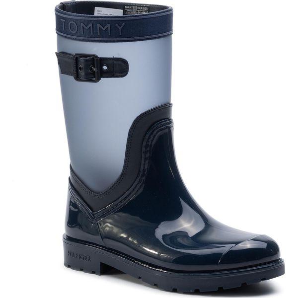 großer Abverkauf neueste billiger Verkauf Kalosze TOMMY HILFIGER - Translucent Detail Rain Boot FW0FW04126 Tommy Navy  406