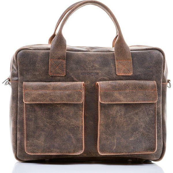 Skórzana torba męska Paolo Peruzzi Adventure GA134 jasnobrązowa j. brązowy