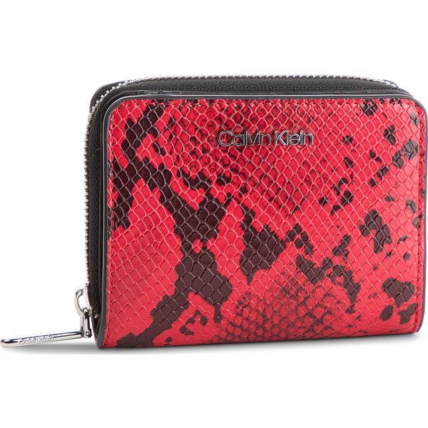 a45115217f4bf Mały Portfel Damski CALVIN KLEIN - Stitch Med Zip W Flap K60K604857 910 -  Czerwone portfele damskie marki CALVIN KLEIN