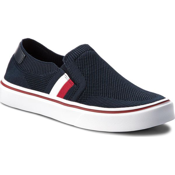 d2248e53380b8 Tenisówki TOMMY HILFIGER - Lightweight Corporate Slip On FM0FM01634 ...