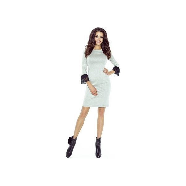 b1ecb9de20 Ołówkowa sukienka z koronkowym mankietem - Sukienki damskie marki ...