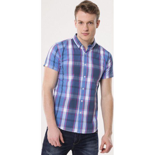 a375eb665b0a51 Niebieska Koszula Unsurprising - Koszule męskie Born2be. Za 49.99 zł ...