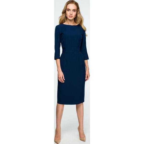 15312114bf Gładka sukienka z guzikami s119 - Sukienki damskie marki Style. Za ...