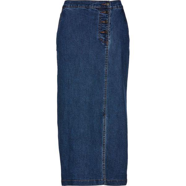 960cfbf3 Spódnica dżinsowa bonprix niebieski