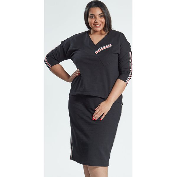 502cd25ffe Spódnica z bluzką w czarnym komplecie Blanca OVERSIZE PLUS SIZE ...