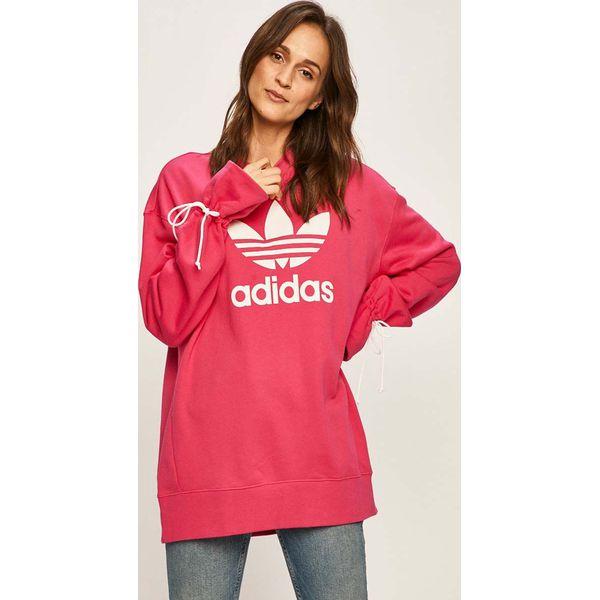 adidas bluza z kapturem czerwona