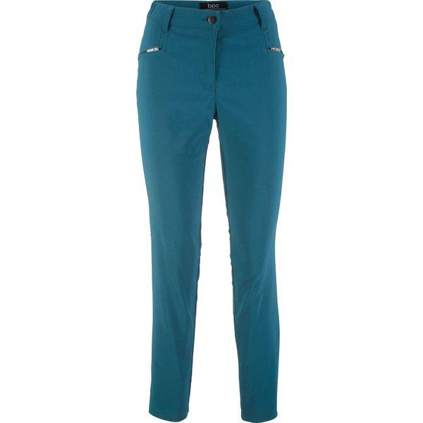 Spodnie ze stretchem z bengaliny, z wygodnym paskiem Slim Fit bonprix niebieskozielony morski