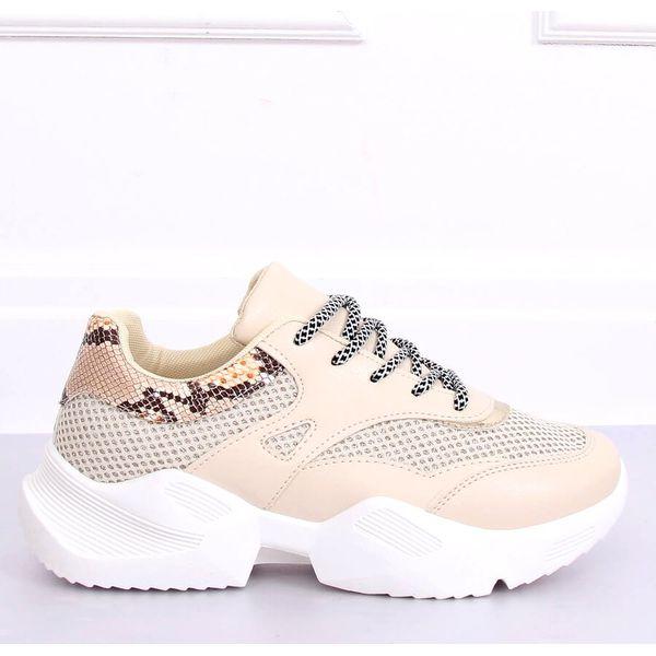Buty sportowe damskie beżowe BL192P Beige brązowe