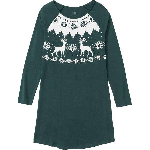 Koszula nocna zielone jabłuszko, bawełna (bonprix) sklep