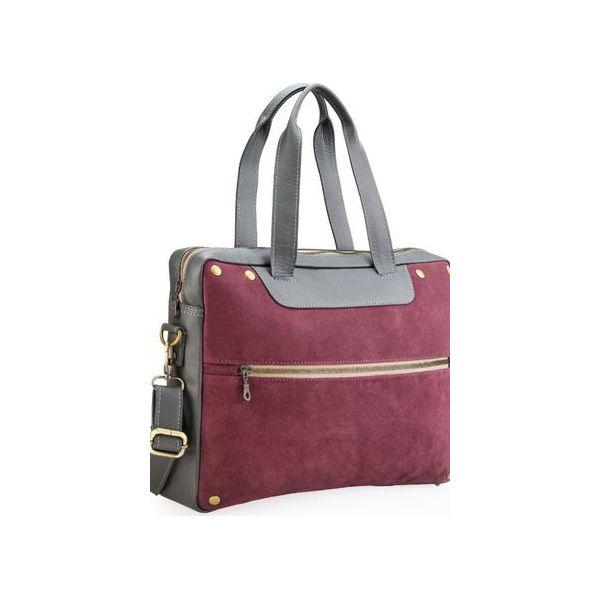 ec507e091b184 Ręcznie szyta skórzana torba damska na laptopa (np. MacBooka ...