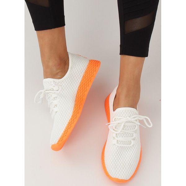 Buty sportowe biało pomarańczowe NB283 FLUORESCENCE ORANGE