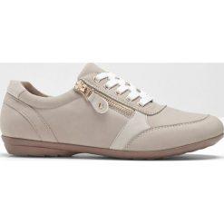 Wygodne buty sznurowane z pianką YouFoam bonprix brunatny