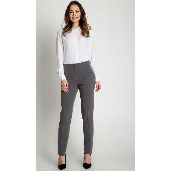09fb66f31f80d6 Klasyczne szare spodnie w kant z wysokim stanem KLASYKA BIALCON - Spodnie  materiałowe damskie KLASYKA BIALCON. Za 159.00 zł. - Spodnie materiałowe  damskie ...