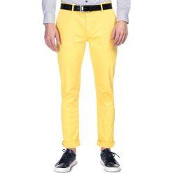 Żółte spodnie męskie ze sklepu Giacomo Conti Kolekcja