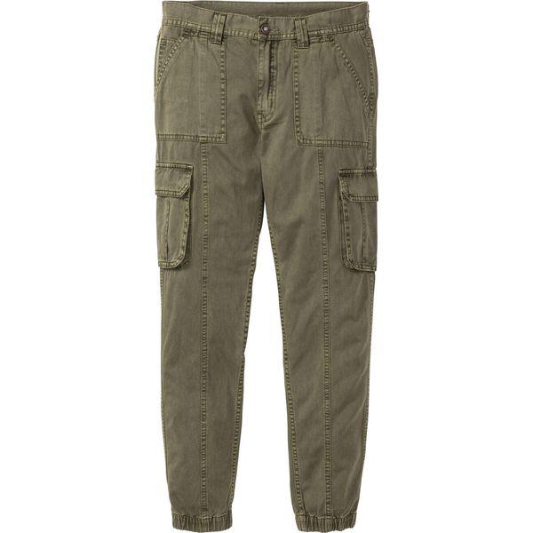 Spodnie bojówki Regular Fit Tapered bonprix ciemnooliwkowy