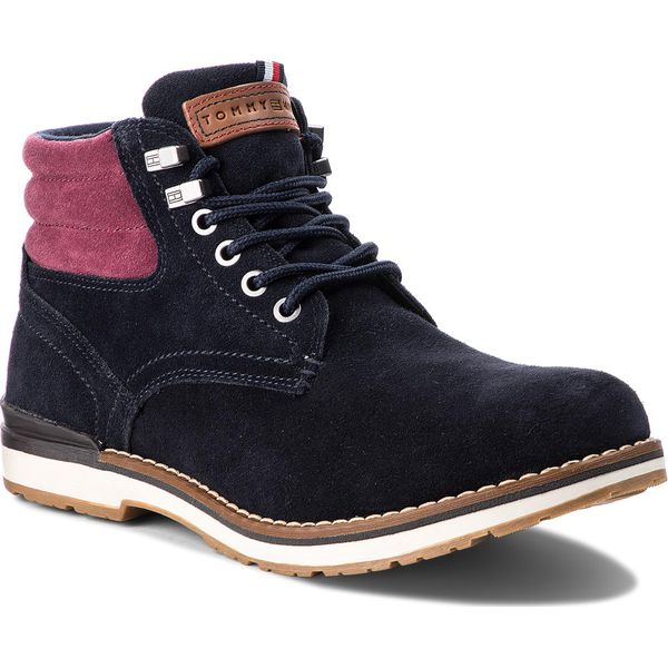 e94c900661b29 Trapery TOMMY HILFIGER - Outdoor Suede Boot FM0FM01748 Midnight 403 ...