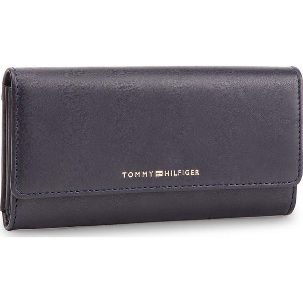 7d815d621495f Duży Portfel Damski TOMMY HILFIGER - Classic Leather Lrg Za W/Flap ...