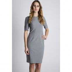 32229b07c2 Szare sukienki damskie na spotkanie biznesowe
