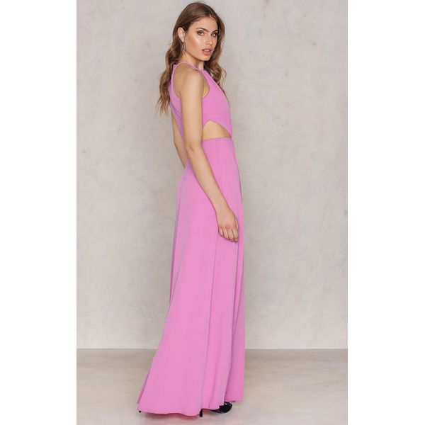 b0eb387ab5 Trendyol Długa sukienka z rozcięciem - Pink - Różowe sukienki ...