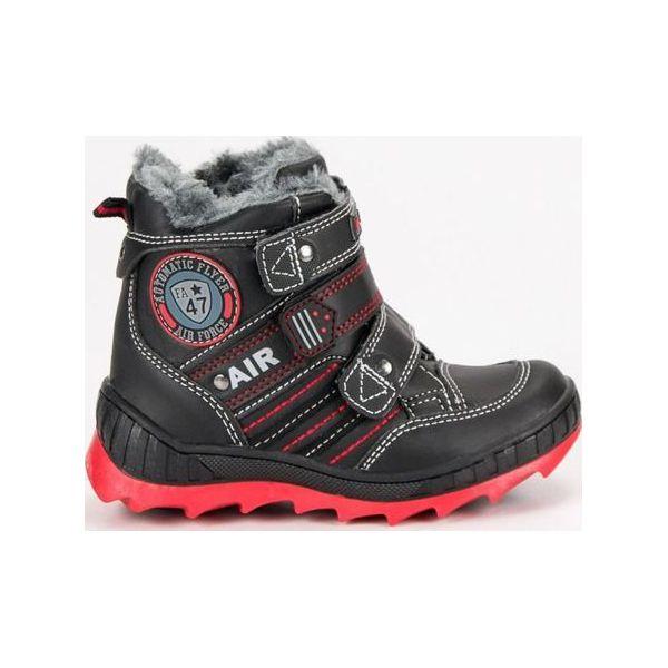 2ec65c70 Buty dziecięce zimowe na rzepy czarne r. 30 - Botki dziewczęce marki ...