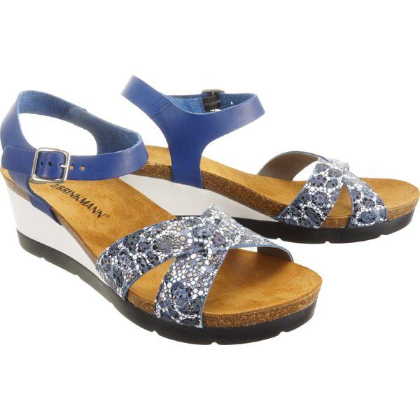 DR. BRINKMANN 710950 5 blau, sandały profilaktyczne damskie
