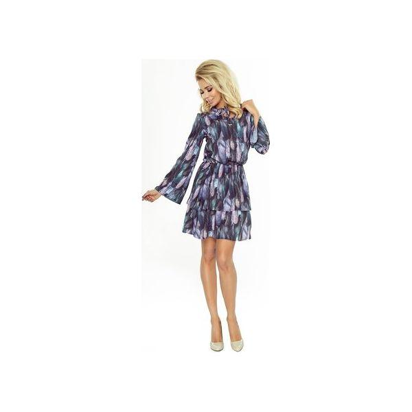 eea5906885 Zwiewna sukienka z rozszerzanymi rękawami - Sukienki damskie marki ...