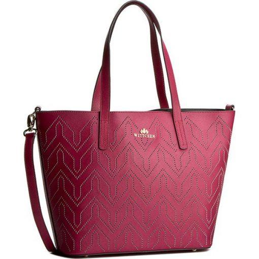 832a1b01bbf4b Torebka WITTCHEN - 82-4E-405-P Różowy - Czerwone torebki klasyczne ...