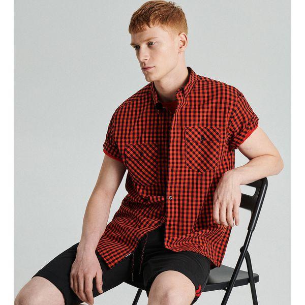 a7c57805a5ea2b Koszula z krótkim rękawem w kratę - Czerwony - Koszule męskie Cropp. W  wyprzedaży za 19.99 zł. - Koszule męskie - Odzież męska - Mężczyzna - Sklep  Super ...