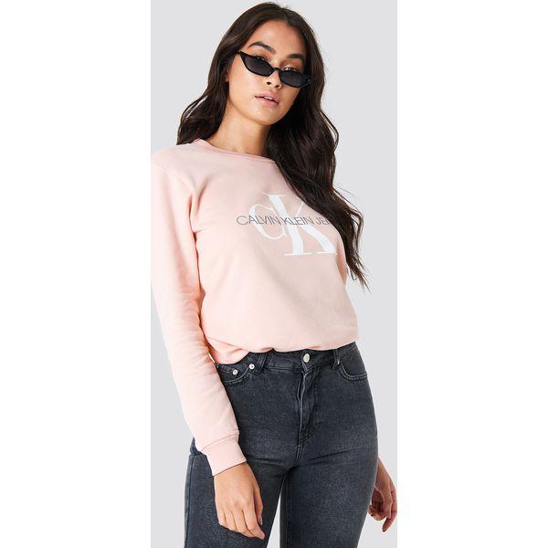 2d4bde5f6c552 Calvin Klein Bluza Monogram Logo - Pink - Bluzy bez kaptura damskie ...