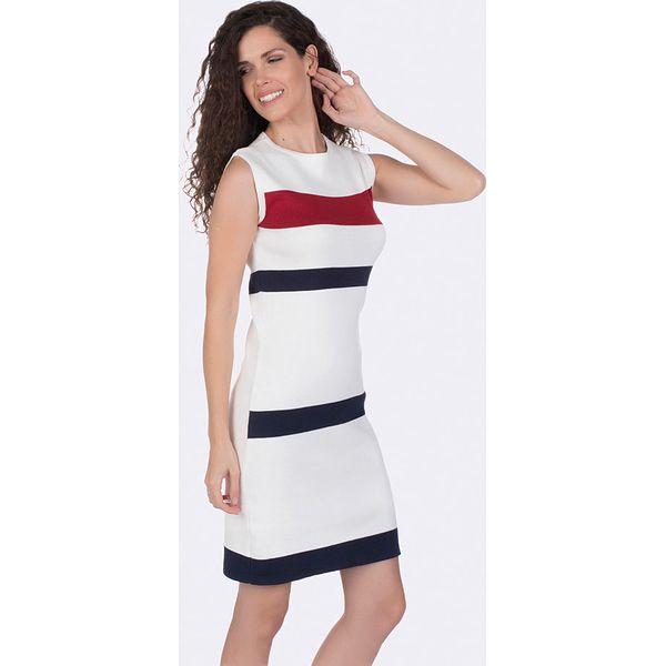 a16bbc71ab38ca Sukienka w kolorze białym - Sukienki damskie Giorgio Di Mare. W ...