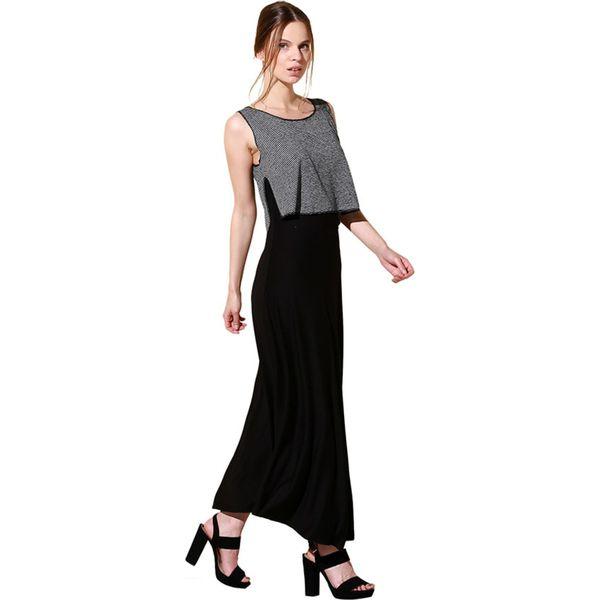 85ac140139 Sukienka w kolorze czaro-szarym ze wzorem - Sukienki damskie marki ...